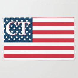 Connecticut American Flag Rug