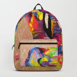 Elephants mother and son Backpack