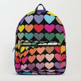 Love Heart Colour Abstract Art Backpack