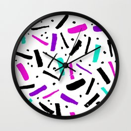 confetti minimal styled simple pattern Wall Clock