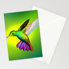 Fascinating Beautiful Florescent Tropic Creature Zoom UHD Stationery Cards