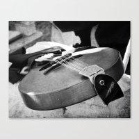 banjo Canvas Prints featuring Banjo by KimberosePhotography
