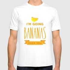 Going bananas over you White SMALL Mens Fitted Tee