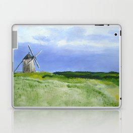 Windmill French Countryside Acrylics On Paper Laptop & iPad Skin