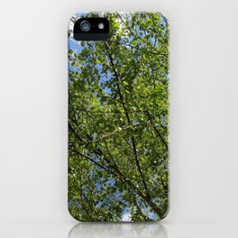 tree and sky iPhone Case