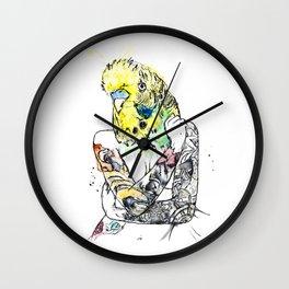 Watercolour Art: 'Hot Bird', Pin-up Girl Unique Art.  Wall Clock