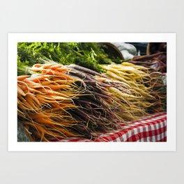 Market Carrots Art Print