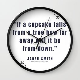 11   |  Jaden Smith Quotes | 190904 Wall Clock