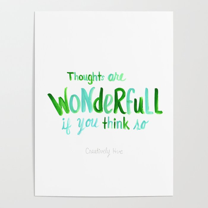 Wonderful Thoughts Poster