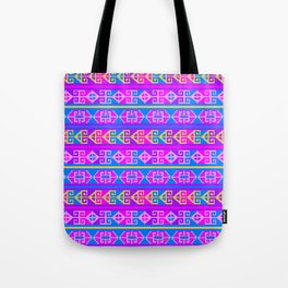 Colorful Mexican Aztec geometric pattern Tote Bag