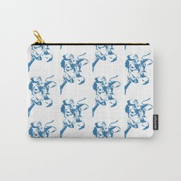Follow the Herd Pattern - Blue #761 Carry-All Pouch
