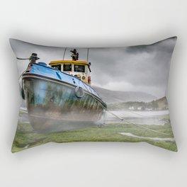 Boat on Loch Duich Rectangular Pillow