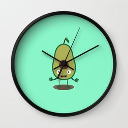 Avocado guacamole guy T-Shirt for all Ages D41j6 Wall Clock