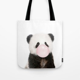 Bubble Gum Panda Bear Tote Bag