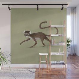 Squirrel Monkey Walking Wall Mural