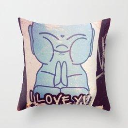 I LOVE YOU Buddha Throw Pillow