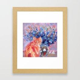 Ginger Blue Framed Art Print