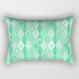 Green Lily Bear Rectangular Pillow