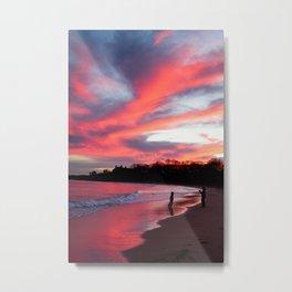 Blazing Reflection Metal Print