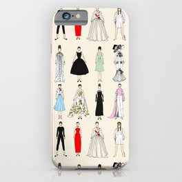Audrey Fashion Vintage Retro in Cream iPhone Case