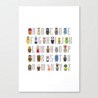 muppet Canvas Prints featuring Pixel Muppet Show Alphabet by PixelPower