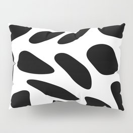 Black Pebbles Motif Pillow Sham