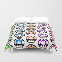 Multicoloured Mushrooms Duvet Cover
