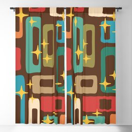 Retro Mid Century Modern Abstract Pattern 222 Blackout Curtain