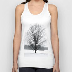 A Cold Winters Fog Unisex Tank Top