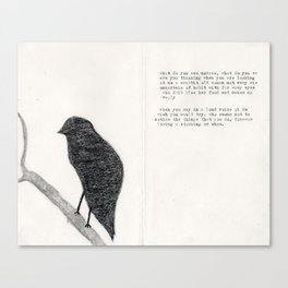 Old Bird page 1 Canvas Print