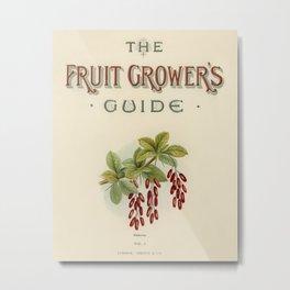 Vintage illustration of fruit grower's guide  The Fruit Grower's Guide (1891) by John Wright. Metal Print