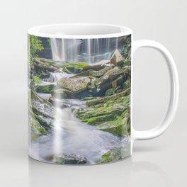 Zen Waterfall Flow Nature Green West Virginia Print Coffee Mug