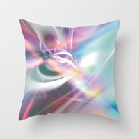 1984 Throw Pillows featuring Disco 1984 by Palm Street Gallery