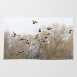 Ducks in Autumn Flight Rug
