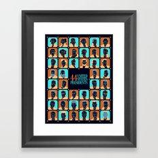 44 U.S. Presidents Framed Art Print