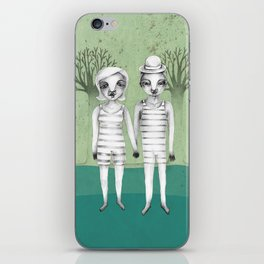 gymnast couple in the forest iPhone Skin