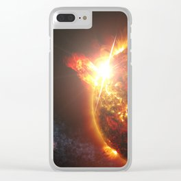 S Wiessinger - DG Canum Venaticorum (DG CVn), a binary system of two red dwarves (2014) Clear iPhone Case