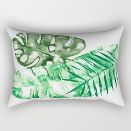 Palm Leaves-Banana, Coconut, Monstera Rectangular Pillow