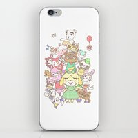 animal crossing iPhone & iPod Skins featuring Animal Crossing (yellow) by Siri