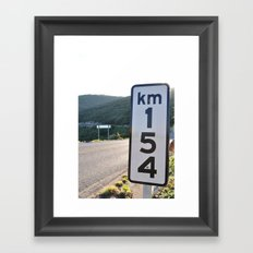 kilometer 154 Framed Art Print