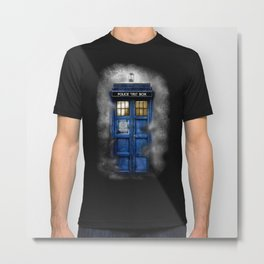 Haunted Halloween Blue phone Box iPhone 4 4s 5 5c 6, pillow case, mugs and tshirt Metal Print