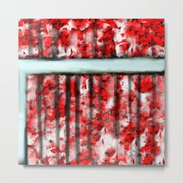 The Red Curtain Metal Print