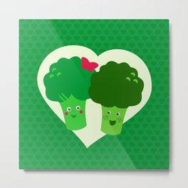 Broccoli in love Metal Print