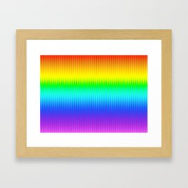 Bright Rainbow Stripes Pattern Framed Art Print