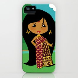 Girls of the World: India iPhone Case