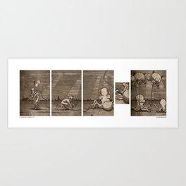 Diving Hosed Art Print