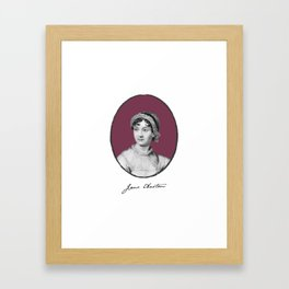 Authors - Jane Austen Framed Art Print