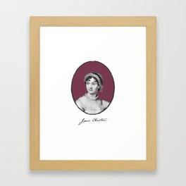 Authors - Jane Austen Framed Art Print