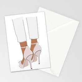 Blush Heels Stationery Cards