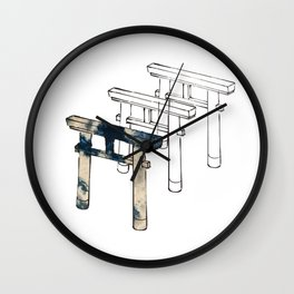 The Gateway to a sacred sky space Wall Clock